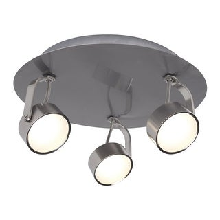 "Bazz Lighting C14181 Focus 3 Light 10"" Wide Integrated LED Flush Mount Ceiling F"