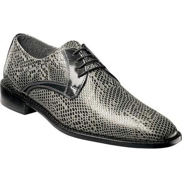 557e03e18f Stacy Adams Men's Rinaldi Plain Toe Oxford 25047 Gray Anaconda Print  Leather