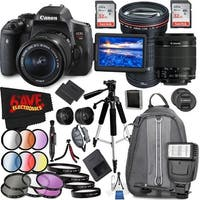 Canon EOS Rebel T6i DSLR Camera with 18-55mm Lens (Intl Model) and Canon EF 200mm f/2.8L II USM Lens