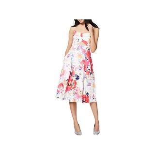 Rachel Rachel Roy Womens Party Dress Floral Cut Out