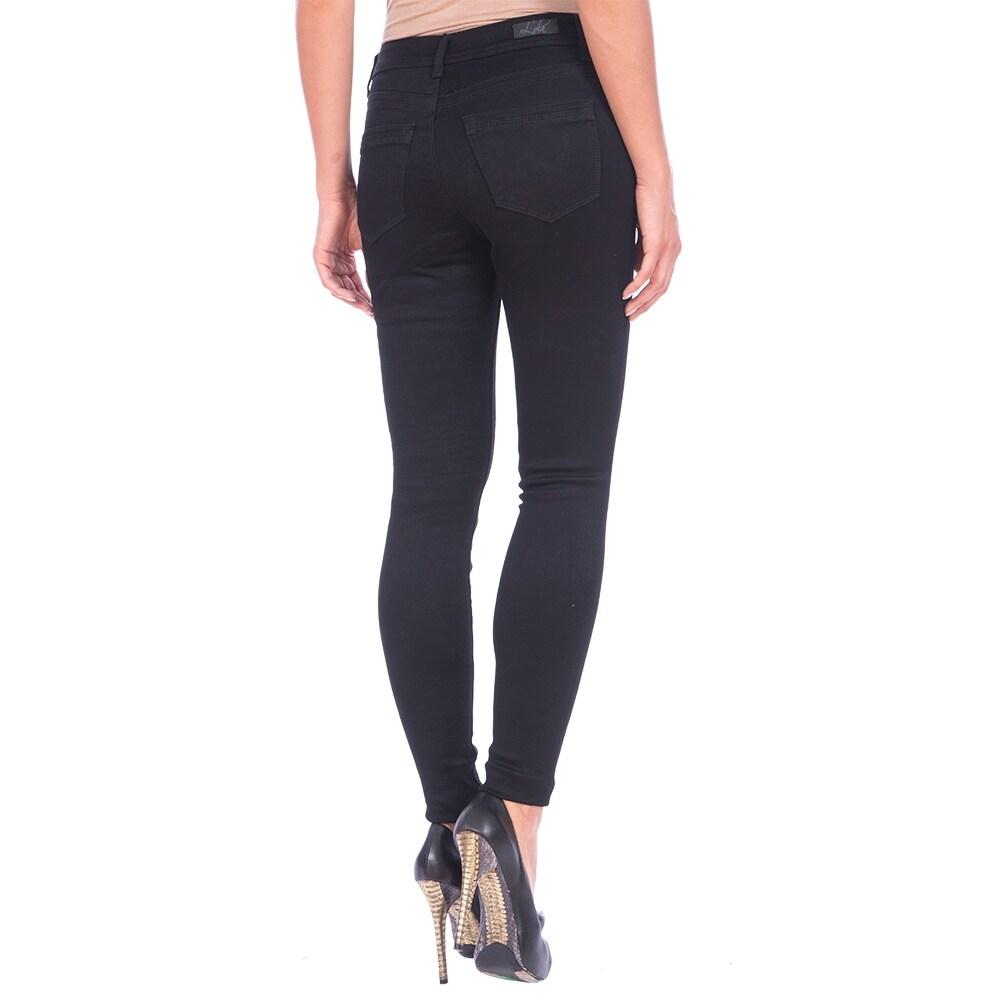 Lola Classic Skinny Jeans, Celina-BLK - Thumbnail 1