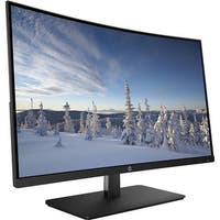 "Refurbished - HP 27b 27"" Curved Display Monitor FHD 1920x1080 300 cd/m² 5ms HDMI DisplayPort"