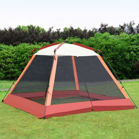 6 Persons Portable Automatic Pop Up Family Tent with Bag