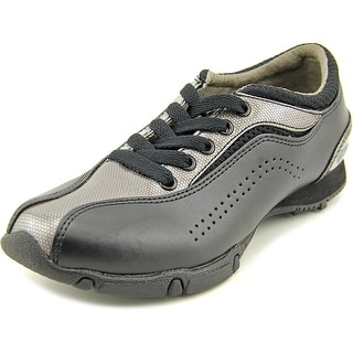 Golfstream E5000 Youth EW Round Toe Synthetic Black Golf Shoe