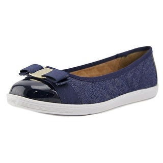 Soft Style by Hush Puppies Faeth Women  Round Toe Synthetic Blue Flats