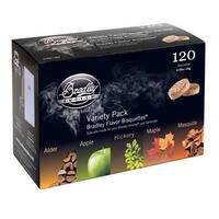 Bradley Smoker BT5FV120 5 Flavor Variety 120 Pack