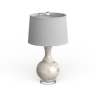 "Safavieh Lighting 25-inch White Shelley Gourd Table Lamp (Set of 2) - 14""x14""x25"""