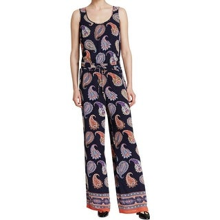 Tory Burch Womens Jumpsuit Silk Paisley