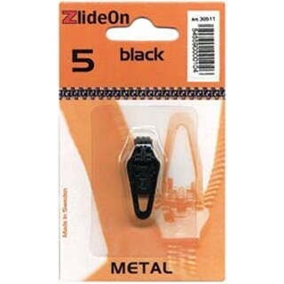 Black - ZlideOn Zipper Pull Replacements Metal 5