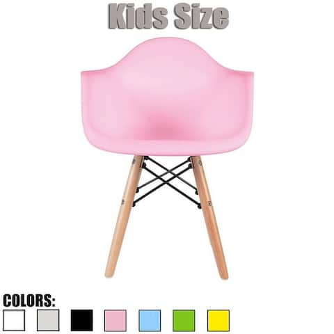 2xhome Modern Kids Toddler Chair Armchair With Arms Natural Wood Legs Dowel Eiffel Kitchen Bedroom Desk Montessori School
