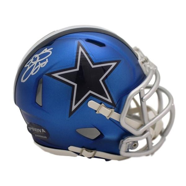 ce47aa143 Shop Emmitt Smith Autographed Dallas Cowboys Blaze Mini Helmet Prova - Free  Shipping Today - Overstock.com - 22390265