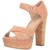 GUESS Womens Parris Suede Open Toe Casual Ankle Strap Sandals