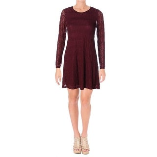 Aqua Womens Casual Dress Lace Mini