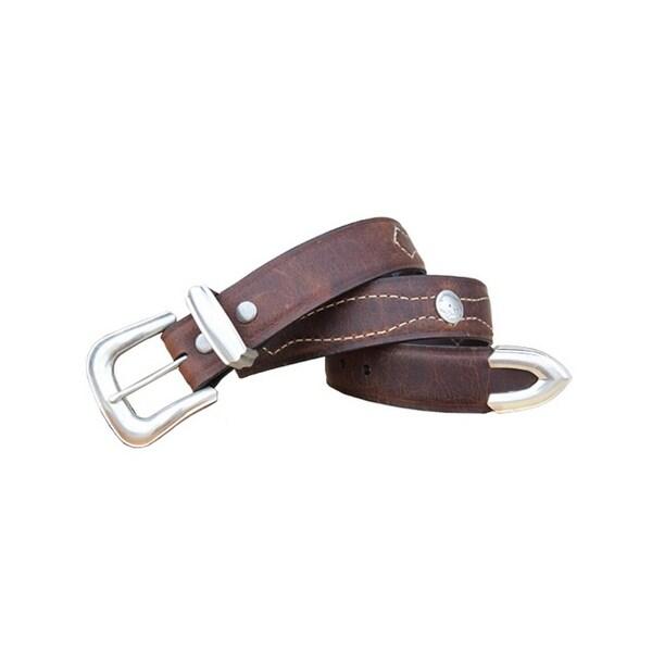 Vintage Bison Western Belt Mens Dalton Leather Buffalo Saddle