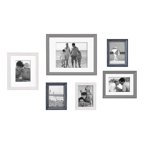Kate and Laurel Bordeaux Gallery Wall Frame Set