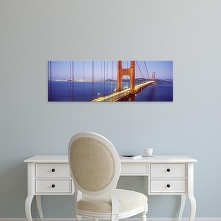 Easy Art Prints Panoramic Images's 'Golden Gate Bridge CA' Premium Canvas Art