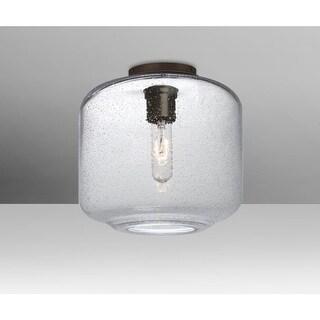 "Besa Lighting NILES10CLC Niles Single Light 9-1/2"" Wide Semi Flush Ceiling Fixture"
