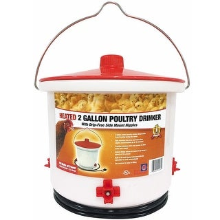 Farm Innovators HB-60P Heated Poultry Drinker, 2 Gallon