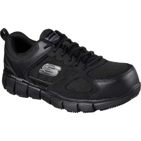 665bba1fff1 Skechers Men  x27 s Work Telfin Comp Toe Slip Resistant Sneaker Black