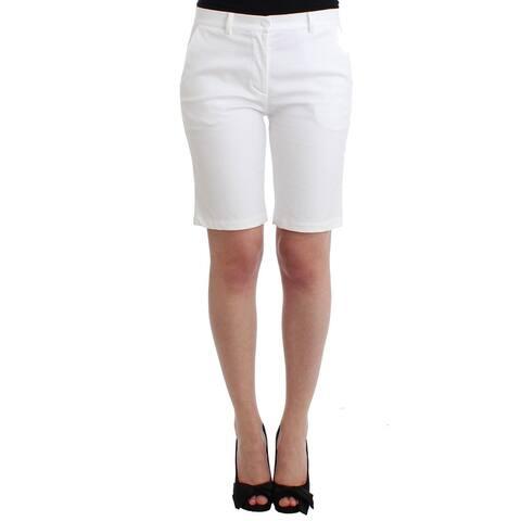 Ermanno Scervino Beachwear White Bermuda City Shorts Women's Dress - it2-s