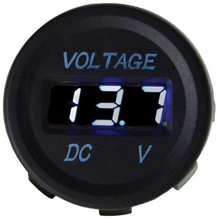 Nippon Digital voltmeter socket blue led display