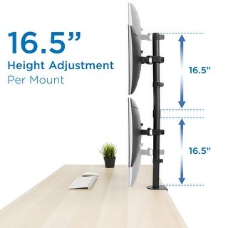 """Link to Mount-It! Vertical Dual Monitor Mount for 19""""-32"""" Inch Screens Similar Items in Monitor Accessories"""