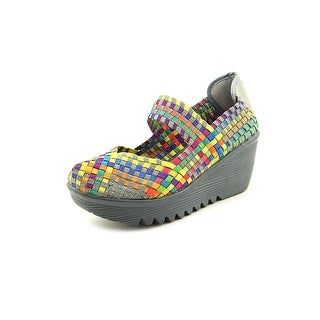 Bernie Mev. Lulia Women Round Toe Canvas Multi Color Mary Janes