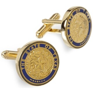 Gold Plated State of Texas Seal Cufflinks