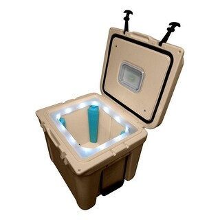 LiT Cooler Ice Legs Lighted Night Sight Halo 32 Quart AG Logo