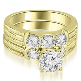 1.75 cttw. 14K Yellow Gold Prong Set Round Cut Diamond Bridal Set