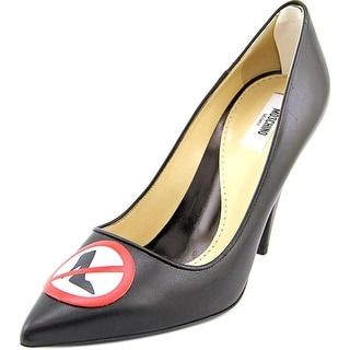 Moschino MA1027AC01MN0000 Pointed Toe Leather Heels