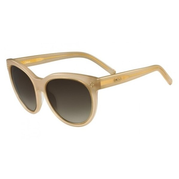 c5522f2934 Shop Chloe Womens Cat Eye Sunglasses Oversized Fashion - SAND - o s - Free  Shipping Today - Overstock - 16916528