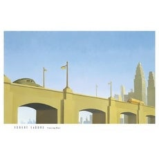 ''Crossing Over'' by Robert LaDuke Transportation Art Print (25 x 37 in.)