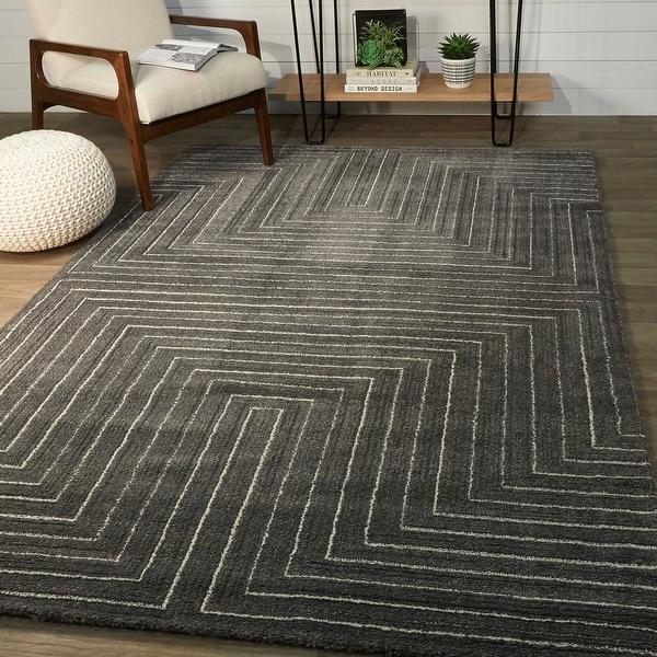 Carmody Modern Art Deco Stripe Area Rug On Sale Overstock 31198670
