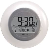 Taylor 1750 Atomic Wall Clock With Thermometer