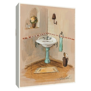 "PTM Images 9-154858  PTM Canvas Collection 10"" x 8"" - ""Pastel Bathroom I"" Giclee Bathroom Art Print on Canvas"