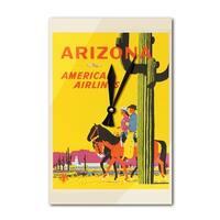 American Airlines - AZ (Ludekun) Vintage Ad (Acrylic Wall Clock) - acrylic wall clock