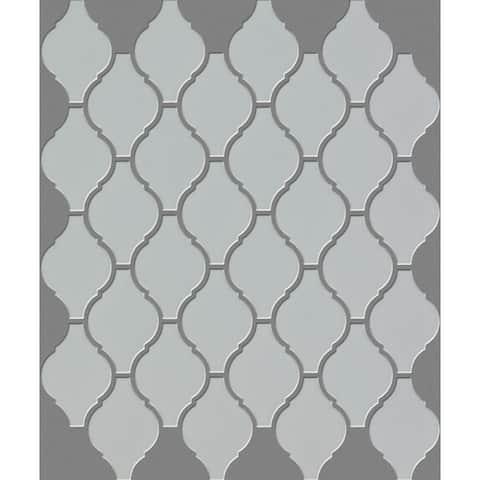 "Shaw CS67P Elegance - 10"" x 12"" Arabesque/Baroque Mosaic Wall Tile -"