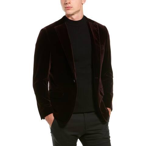 Hickey Freeman Mahogany Velvet Tuxedo Jacket
