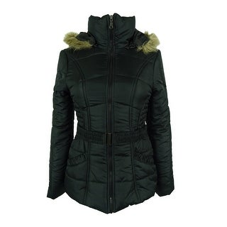 Rampage Women's Faux-Fur-Trim Belted Puffer Coat (3 options available)
