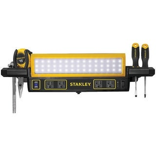 Stanley RA48313 1000 - lumen Workbench Shop Light with Power Strip