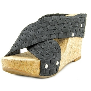 Lucky Brand Miller2 Open Toe Canvas Wedge Sandal