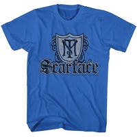 Scarface Movies Shield & Guns Adult Short Sleeve T Shirt