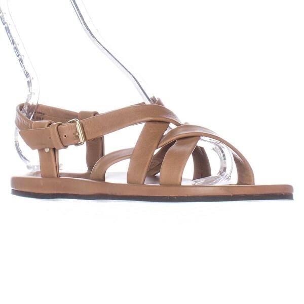 Emozioni W1325 Flat Gladiator Sandals - Tan