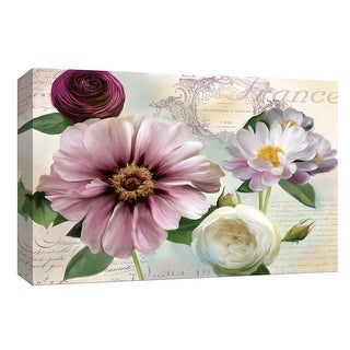 """PTM Images 9-148001  PTM Canvas Collection 8"""" x 10"""" - """"Soft Petals II"""" Giclee Flowers Art Print on Canvas"""