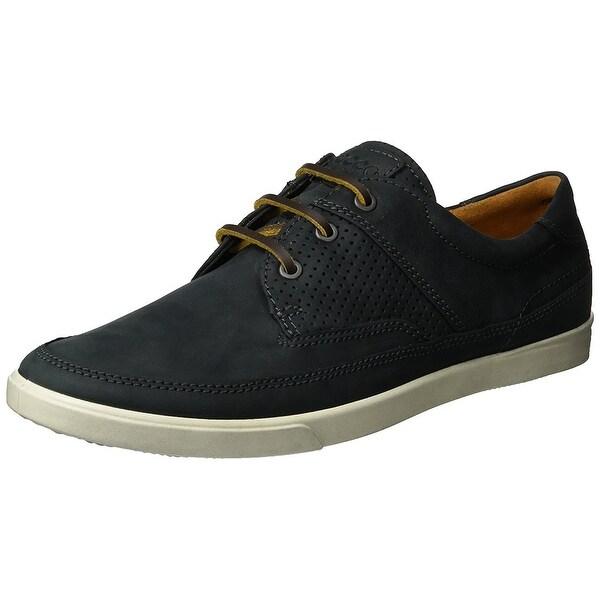 ead2ee930592e9 Ecco Men's Collin Nautical Perforated Fashion Sneaker, Black, 47 Eu