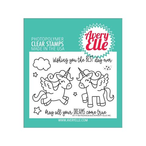St-17-06 avery elle clear stamp pegasus duo