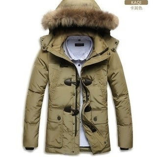 Link to Men Long Big Fur Collar Thickened Down Jacket Similar Items in Men's Outerwear