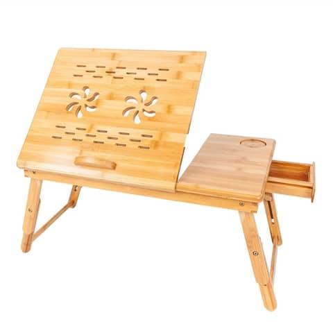 Bamboo Folding Laptop Computer Notebook Table - 19.68 x 14.17 x 21.26
