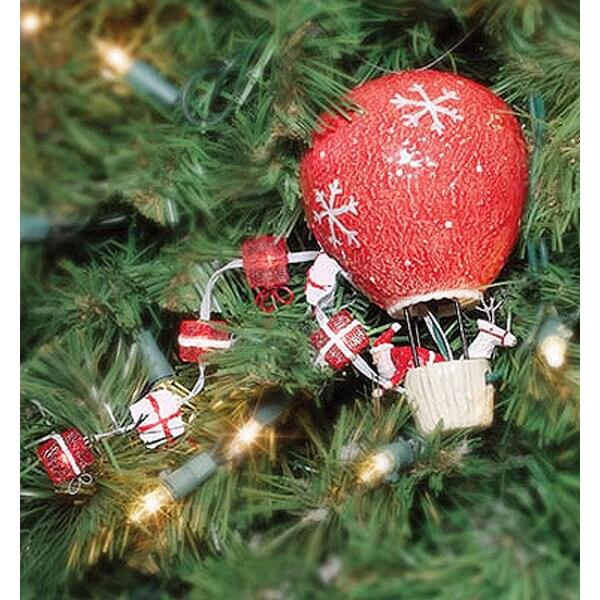 Department 56 Air Balloon Santa Christmas Tree Decoration Chaser Light #99718